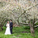 Emma & Brad amongst the apple trees