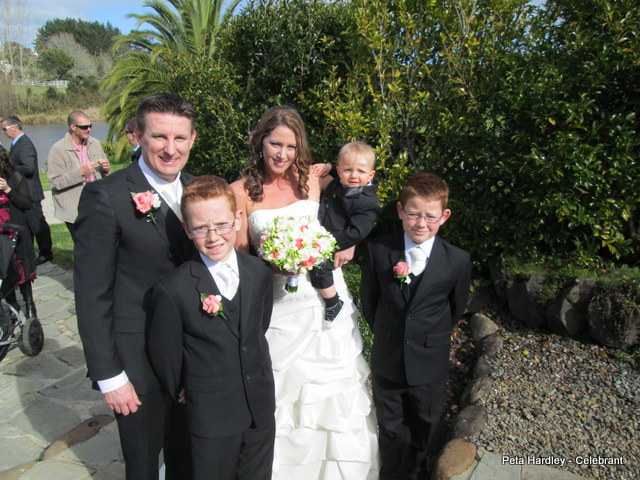 Kimberly and Ross with their 3 handsome boys